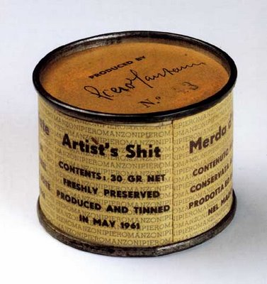 'Merda d'artista' or 'Artist's Shit' by Piero Manzoni