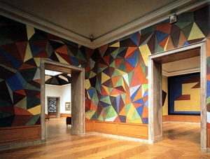 One of Sol LeWitt's wall paintings practically executed by a team of assistats